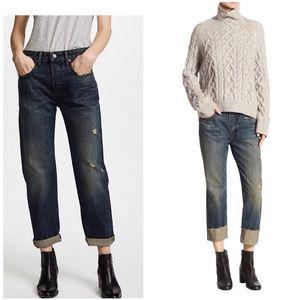 NWT Vince boyfriend distressed jeans size 32